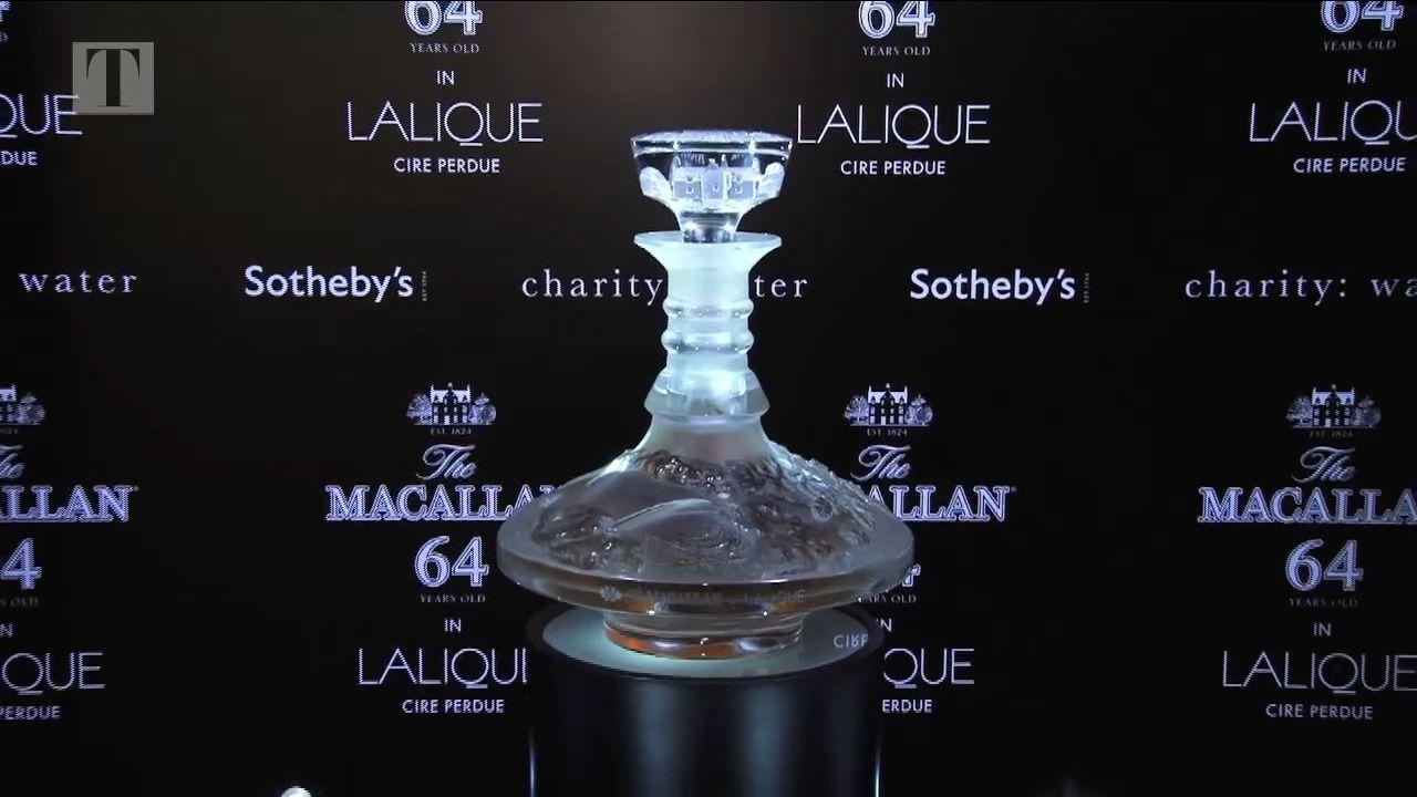 Macallan in Lalique 64 años, el wisky más caro del mundo.